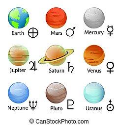符號, 黃道帶, 占星術