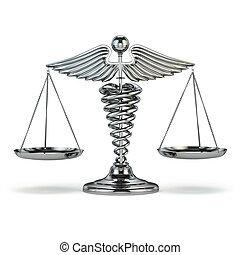 符號, justice., 規模。, 醫學, caduceus, 概念性, imag