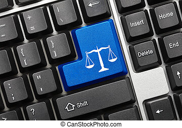 符號, -, key), 鍵盤, 概念性, (blue, 法律