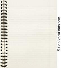 筆記本, 表, 空白