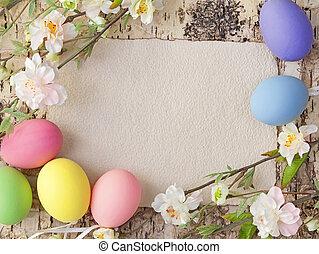 筆記, 蛋, 復活節, 空白