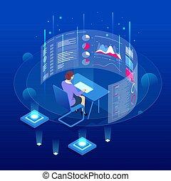 等量, 咨詢, 前面, 屏幕, 數据, 分析, statistic., 管理, 大, 或者, audit., 事務, 專家