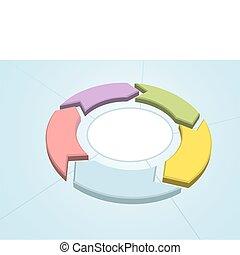 管理, 工作流程, 過程, 箭, 環繞, 週期
