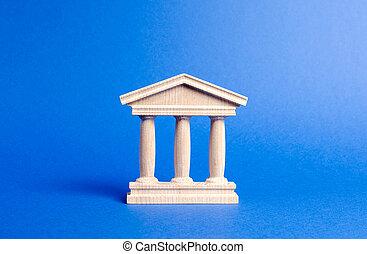 管理, 教育, 建築物, 銀行, city., 小雕像, 柱子, library., 部份, 古董, style., 紀念碑, 城市, 大學, 老概念, 銀行業務, government., 庭院, 建筑, 或者
