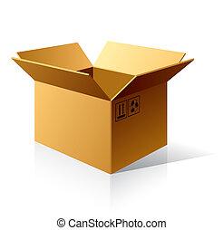 箱子, 紙板, 空