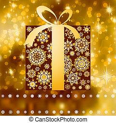 箱子, card., 禮物, 空間, eps, 8, 模仿, 聖誕節