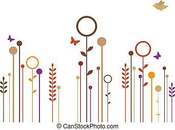 簡單, 花, 矢量