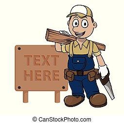 簽署, 木匠, 木頭