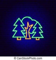 簽署, 森林, 氖