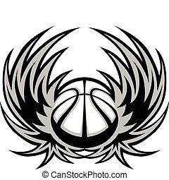 籃球, 翅膀, 樣板
