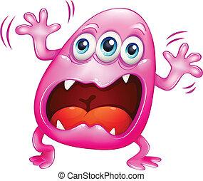 粉紅色, 呼喊, because, 怪物, 挫折