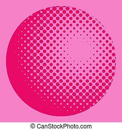 粉紅色, 圖案, 全球, halftone, 背景, 半徑