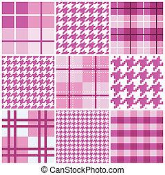 粉紅色, 圖案, seamless, 彙整