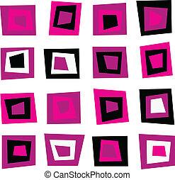 粉紅色, 圖案, seamless, retro, 背景, 正方形, 或者