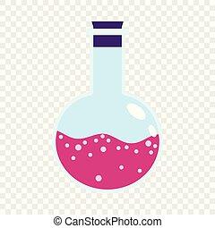 粉紅色, 套間, 風格, 燒瓶, 實驗室, 圖象