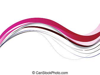 粉紅色, 摘要, lines., 矢量