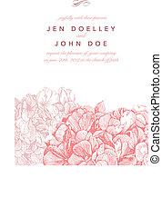 粉紅色, 植物, 矢量, 背景