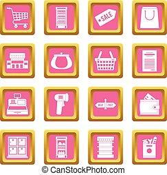 粉紅色, 超級市場, 圖象