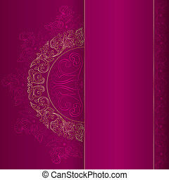 粉紅色, 金, 葡萄酒, 圖樣, 背景, 植物