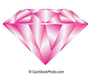 粉紅色, 鑽石