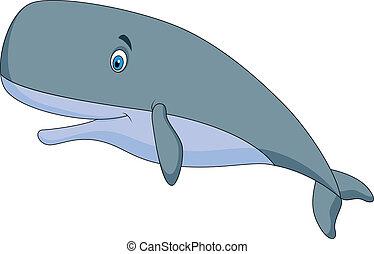 精液, 漂亮, 鯨魚, 卡通