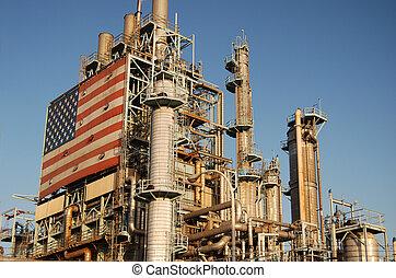 精煉厂, 美國人, 油