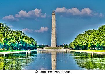 紀念碑, 反射, 華盛頓特區, 池