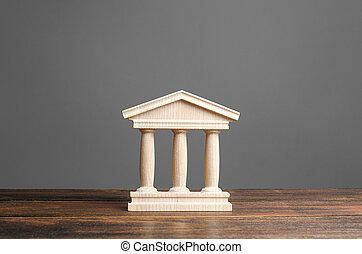紀念碑, 老, 教育, 銀行業務, 小雕像, 城市, 庭院, 柱子, 建筑, 概念, 或者, 建築物, town., 部份, 銀行, 大學, library., 古董, government., 管理, style.