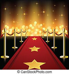 紅色, 星, 地毯