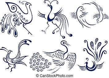 紋身, 部族鳥, 插圖