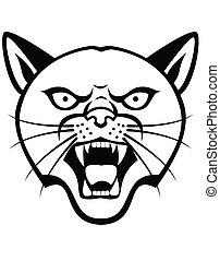 紋身, 頭, 豹