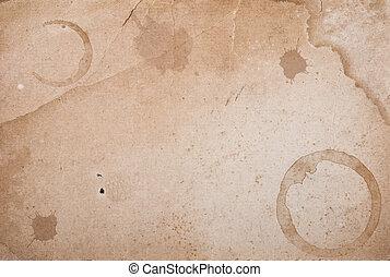 紙, 戒指, stain., 咖啡, 葡萄酒