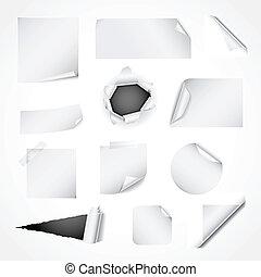紙, 白色, 裝置設計, 元素