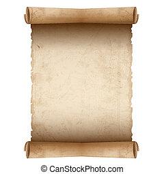 紙, 老, 矢量, 紙卷