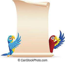 紙, 金剛鸚鵡, 鳥, 紙卷