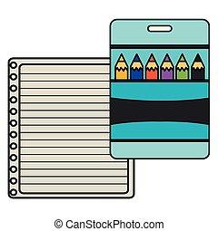 紙, 鉛筆, 顏色, 筆記本, 表