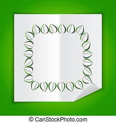 紙, 離開, 框架, 做, cutout
