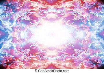 紫色, 幻想, 紅的背景