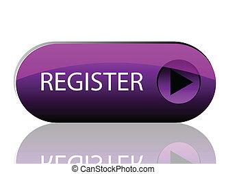 紫色, 按鈕, 矢量, 登記