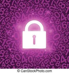 紫色, 鎖, 發光