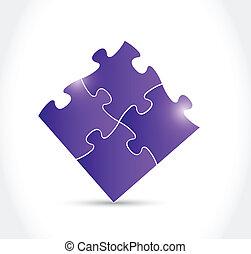 紫色, 難題, 設計, 插圖, 片斷