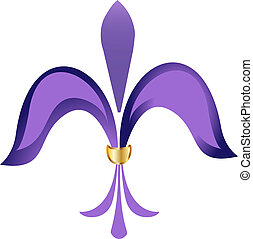紫色, de, 花, fleur, lis