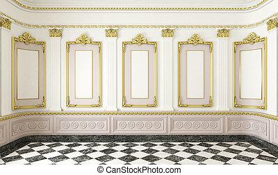細節, 黃金, 風格, 房間, 第一流
