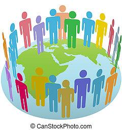 組, 世界, 東部, 全球, 人們, 會見, 地球