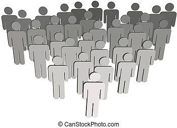 組, 人們, 公司, 或者, 白色, 3d, 符號, 人口