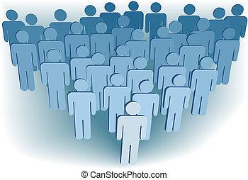 組, 人們, 公司, 或者, 集合, 人口, 符號, 3d