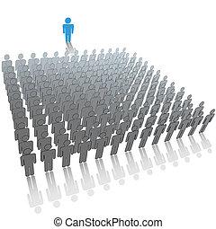 組, 人們, 大, 觀眾, 發言者, 談話, 領導人
