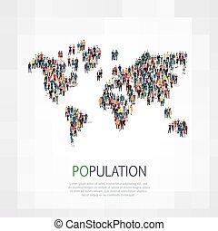 組, 人們, 形狀, 人口