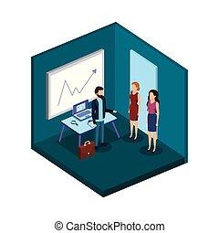 組, 商業辦公室, 人們