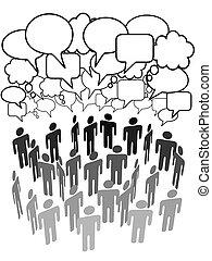 組, 网絡, 人們, 媒介, 公司, 社會, 談話